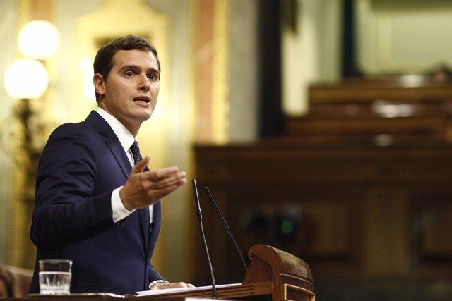 Albert Rivera en el Congreso en el debate de investidura