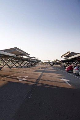 Aparcamiento del aeropuerto de Zaragoza