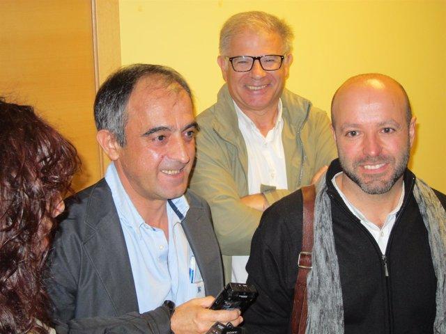 José Antonio Gómez (UGT) y Luís Villares (En Marea)