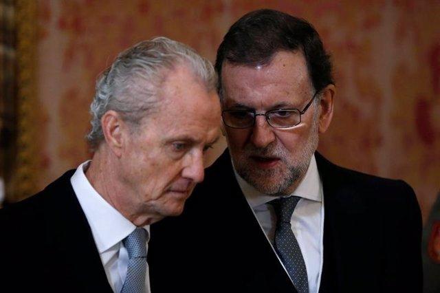 Mariano Rajoy y Pedro Morenés en la Pascua Militar 2016