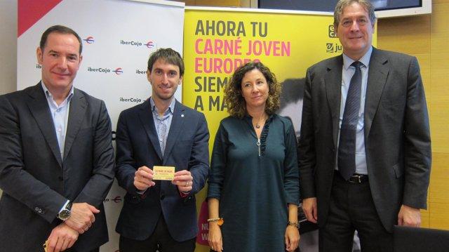 Presentación del nuevo carné joven europeo en Aragón