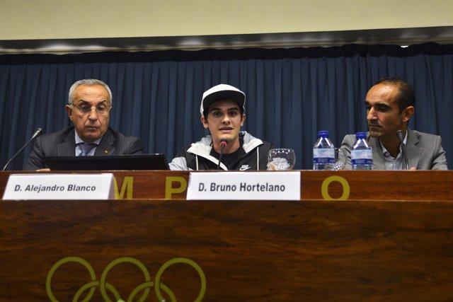 Bruno Hortelano,  Alejandro Blanco y Alberto Armas