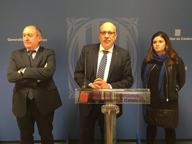 Joan Aregio, Jordi Baiget y Núria Betriu