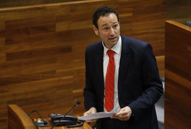Guillermos Martínez, en el pleno de la Junta.