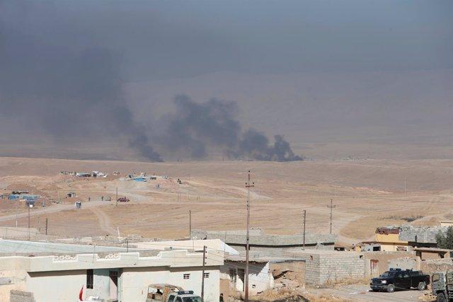 Enfrentamientos con milicianos de Estado Islámico en la ofensiva sobre Mosul