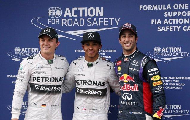 Lewis Hamilton Rosberg Ricciardo Australia