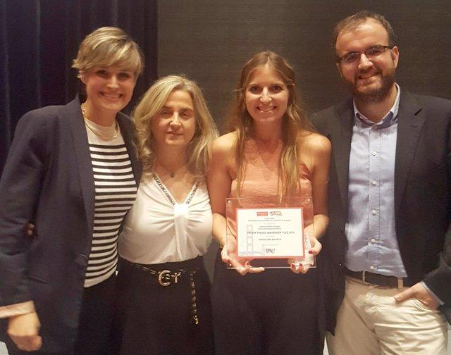 Milagros Laquidain, María Blanco, Yolanda González y Ander Estella.