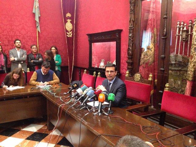 Francisco Cuenca, hoy en rueda de prensa