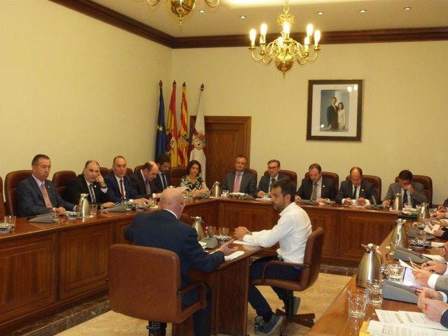 Imagen del Pleno de la Diputación de Teruel.