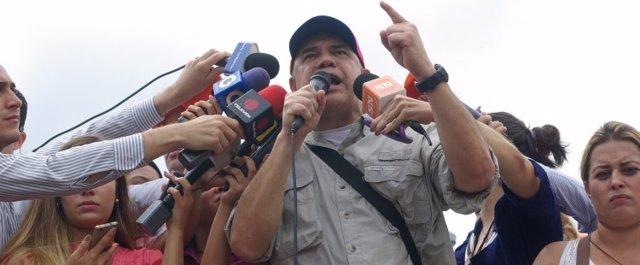 El secretario ejecutivo de la MUD, Jesús 'Chúo' Torrealba