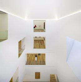 Imagen del interior del edificio de la ampliación del Museo de Bellas Artes.