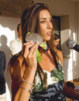 Sandra Aguilar durante su intervención