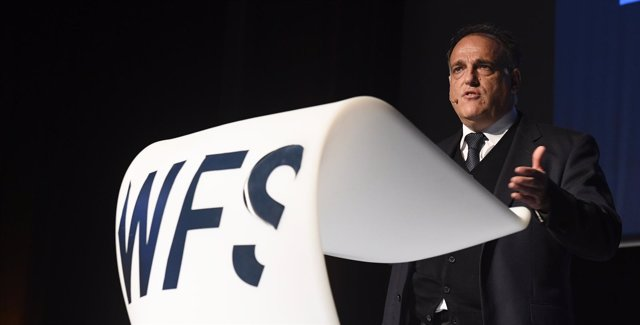 Javier Tebas en el foro World Football Summit