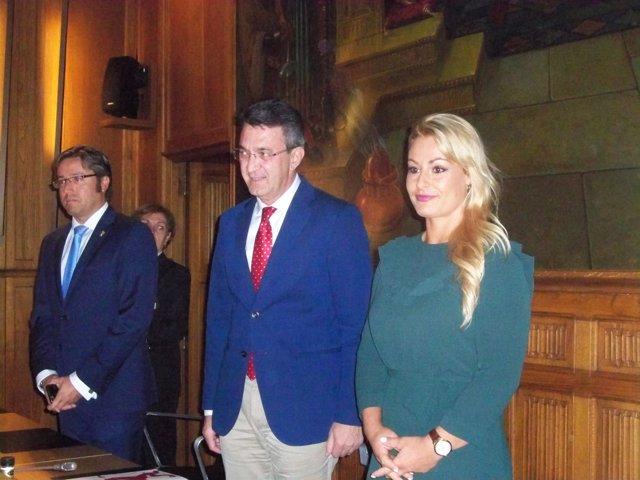 Lydia Valentín en el acto de entrega de la Medalla de Oro al Mérito Deportivo