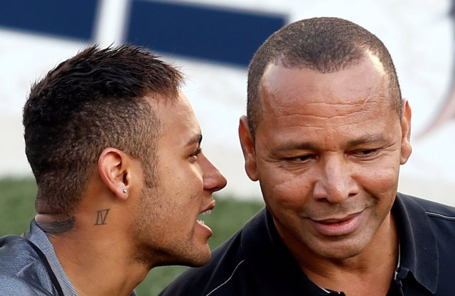 Neymar Junior y su padre
