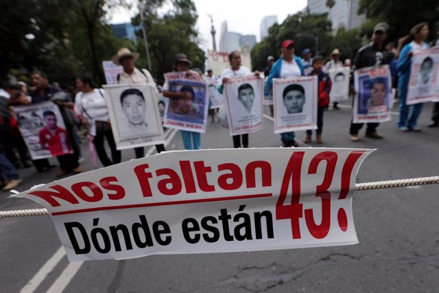 Manifestación por el segundo aniversario de los 43 normalistas