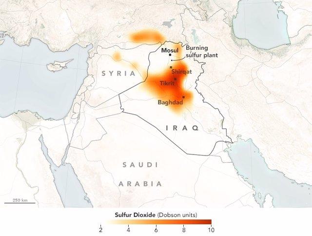 Nube tóxica sobre Irak