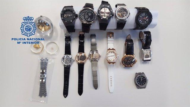 Relojes suizos ocultados en Barcelona por un exempleado suizo
