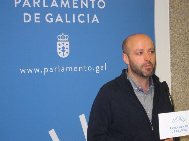 Luís Villares de En Marea en el Parlamento de Galicia.
