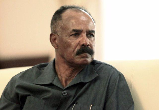 Isaias Afeworki, presidente de Eritrea