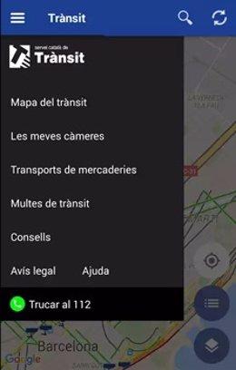 Aplicación móvil del Servei Català de Trànsit