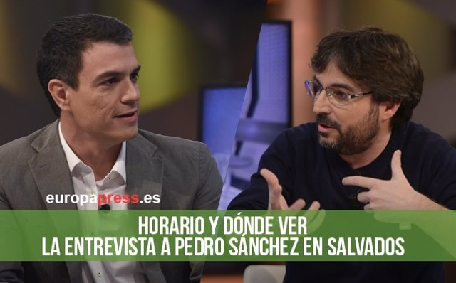Horario y dónde ver la entrevista a Pedro Sánchez en Salvados