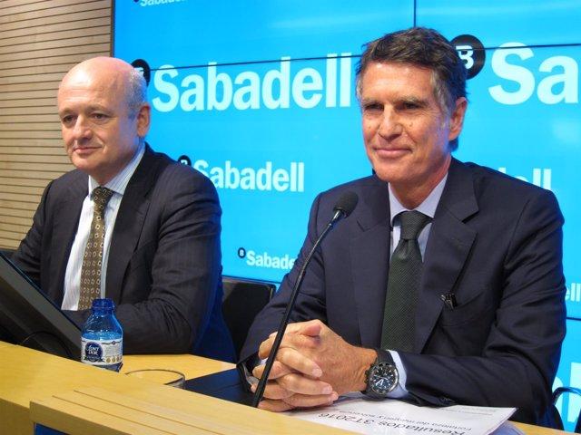 Tomás Varela y Jaume Guardiola (Banco Sabadell)