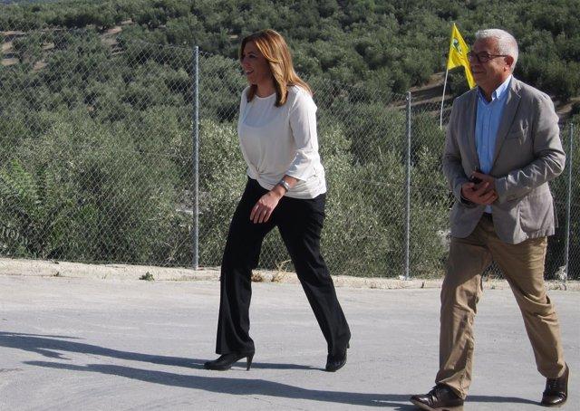 La presidenta de la Junta de Andalucía, Susana Díaz, en Jimena (Jaén)