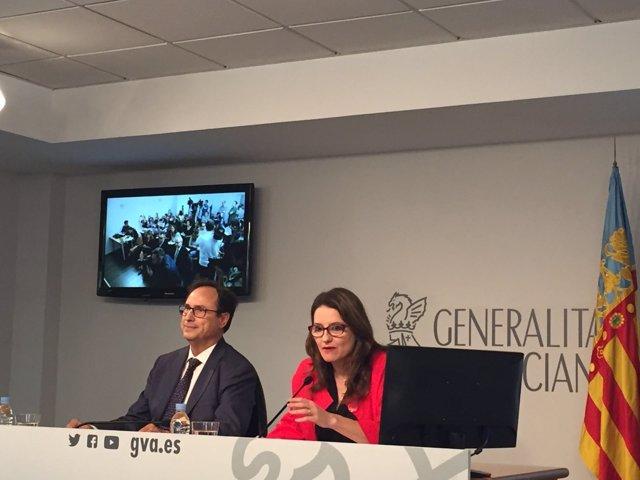 Soler y Oltra en rueda de prensa