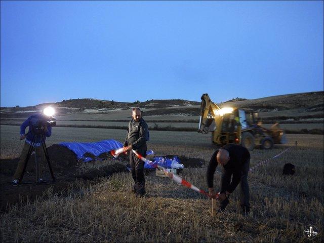 Lugar donde se encuentra la fosa con los restos de 6 fusilados en Soria