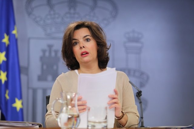 Soraya Sáenz de Santamaría tras el Consejo de Ministros