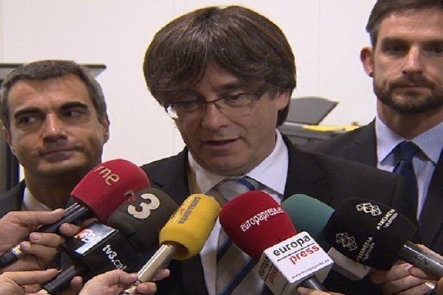 Puigdemont critica el discurso de investidura de Rajoy