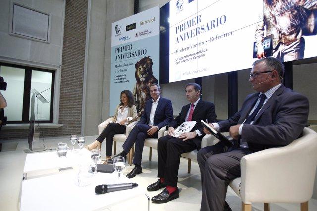 José Luis Rodríguez Zapatero en unas jornadas de El Español