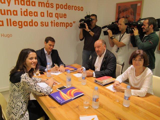 La líder de C's en el Parlament, Inés Arrimadas