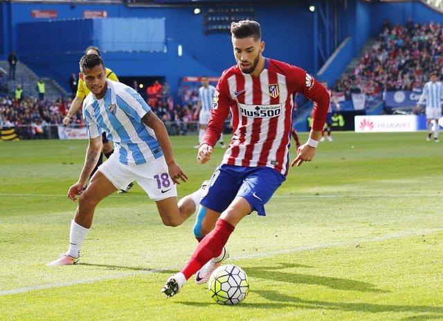 Carrasco y Rosales en el Atlético de Madrid-Málaga