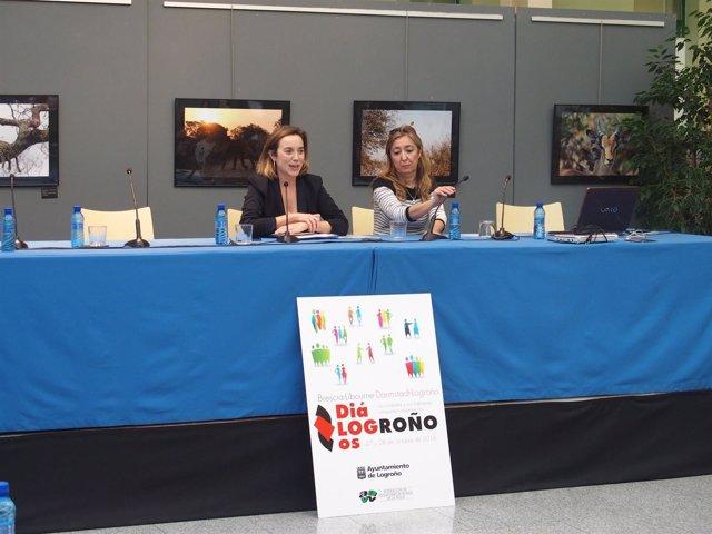 Gamarra y Matute en clausura 'Diálogos en Logroño'