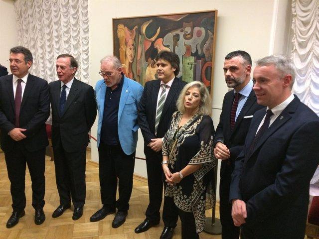 El conseller Santi Vila, en la inauguración de la exposición del Hermitage