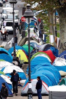 Inmigrantes Acampados