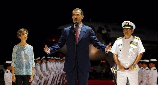 El Rey llega a Cartagena de indias, Colombia