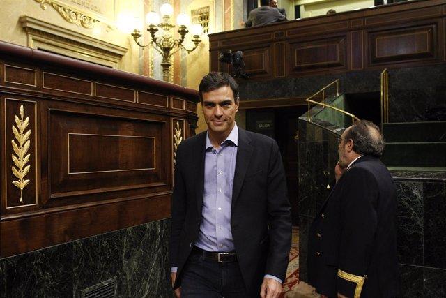 Pedro Sánchez llega a la segunda sesión de investidura