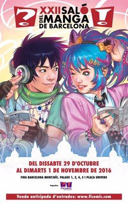 Cartel del Salón del Manga 2016