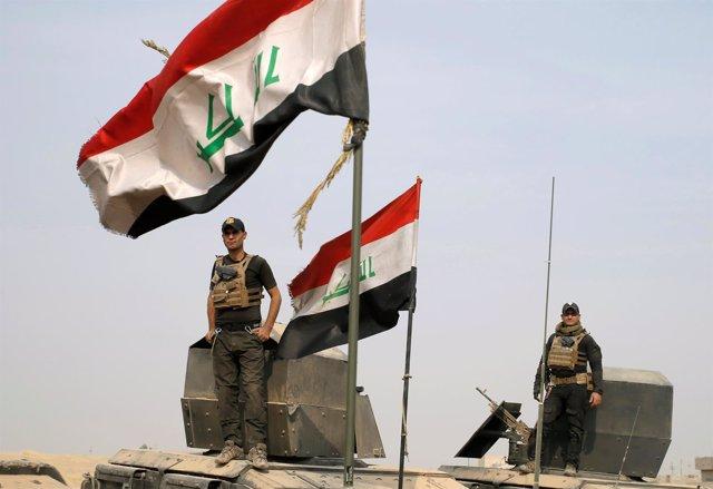 Fuerzas especiales iraquíes en la toma a Mosul