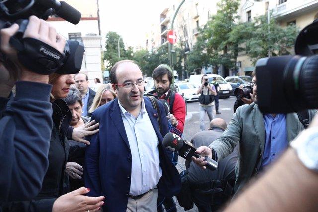 Miquel Iceta en su llegada al Comité Federal del PSOE en Madrid
