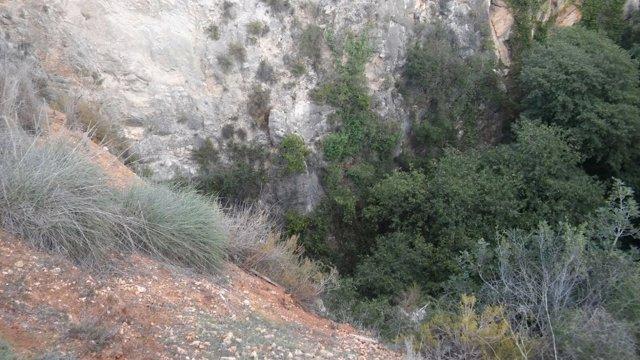 Sima de Chella (Valencia) donde se ha localizado el cadáver
