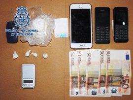 A prisión un hombre y desmantelado en Melilla un punto de venta de cocaína