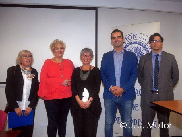 Entrega del premio Colombine a la periodista de TVE Marisol Soto