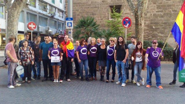 Concentración en Palma contra la investidura de Rajoy