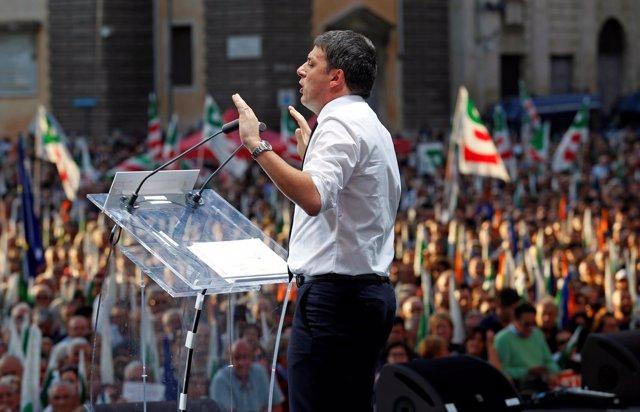El primer ministro italiano, Matteo Renzi