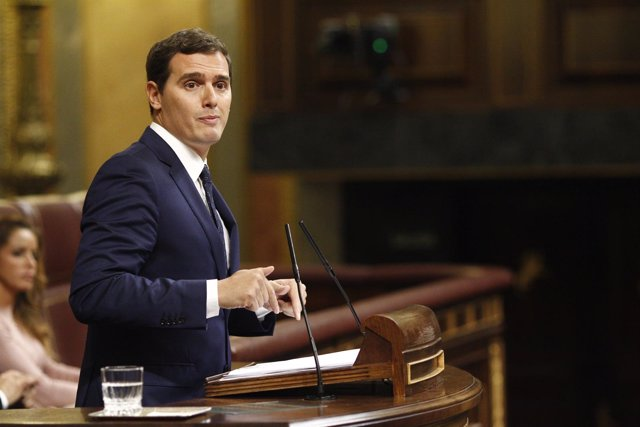 Albert Rivera en el debate de investidura en el Congreso