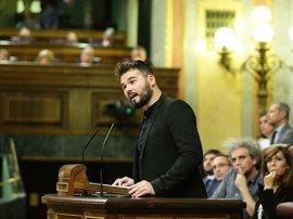 Dirigentes del PSOE cargan contra Rufián y se preguntan cómo pensar en colaborar con ERC